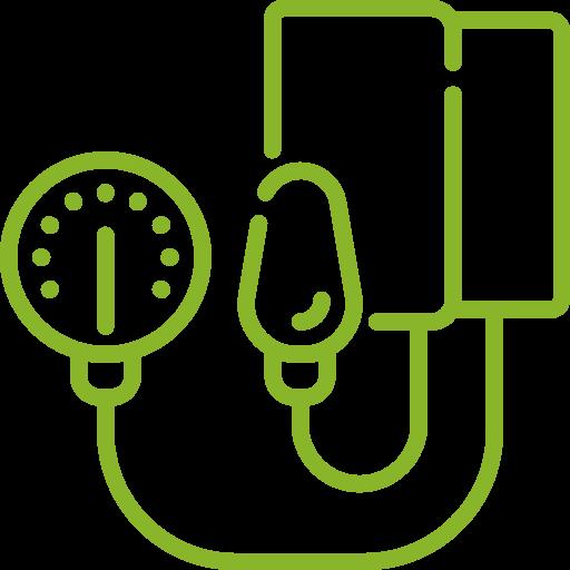 Blutdruckmessgerät Icon grün