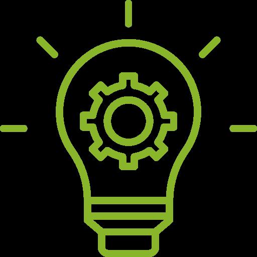 Glühbirne Icon grün