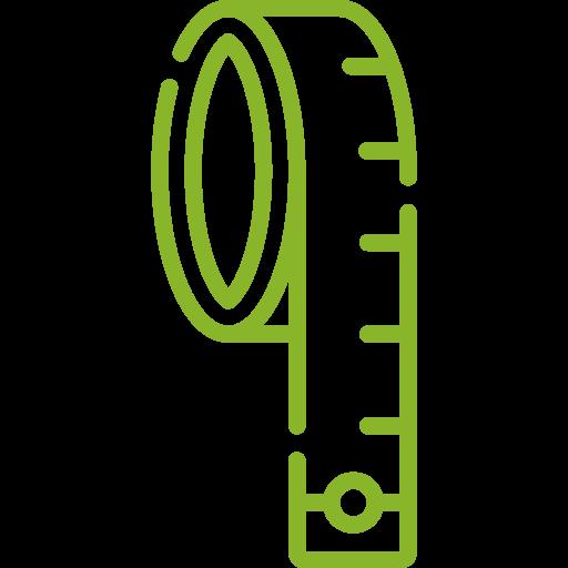 Maßband Icon grün